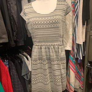 Mid thigh length dress with elastic waist